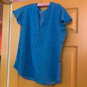 EUC NY&Company blue blouse